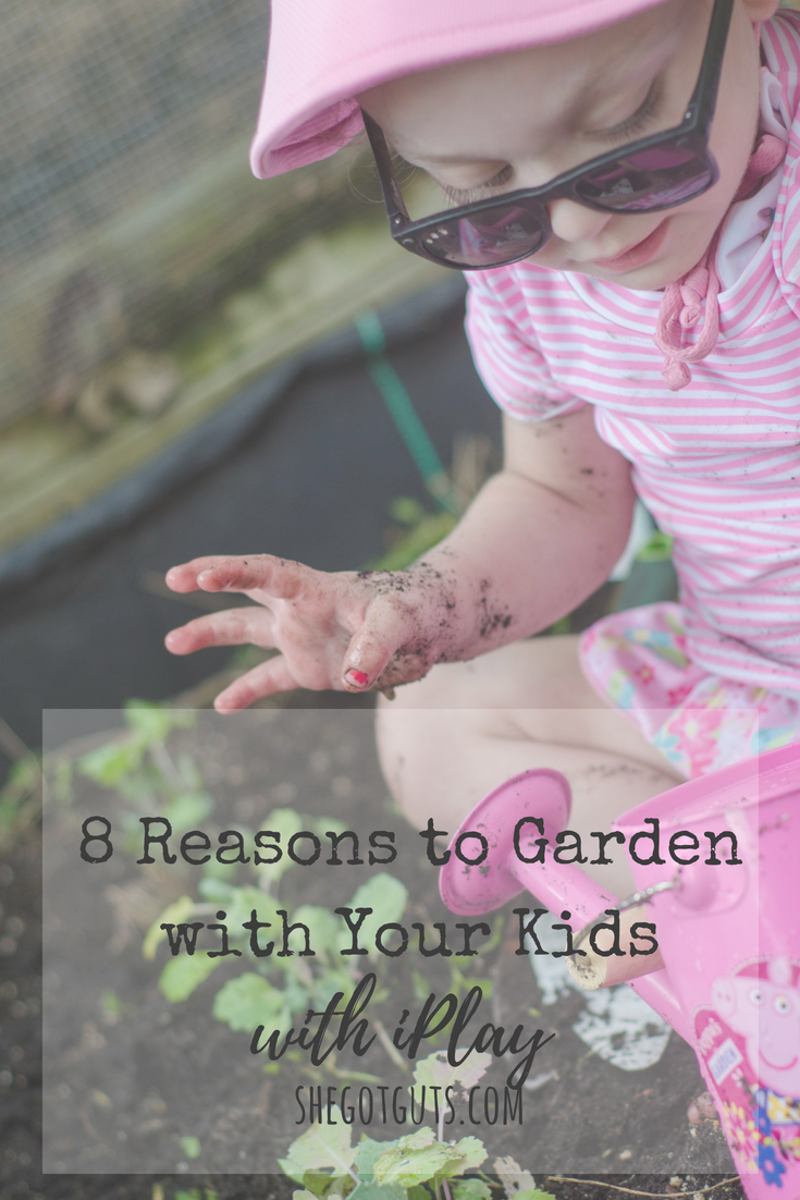 8 Reasons to Garden with Your Kids is part of garden Kids Activities - Today I am sharing all the reasons you should be creating a garden with your kids while also making sure they are protected from the sun!