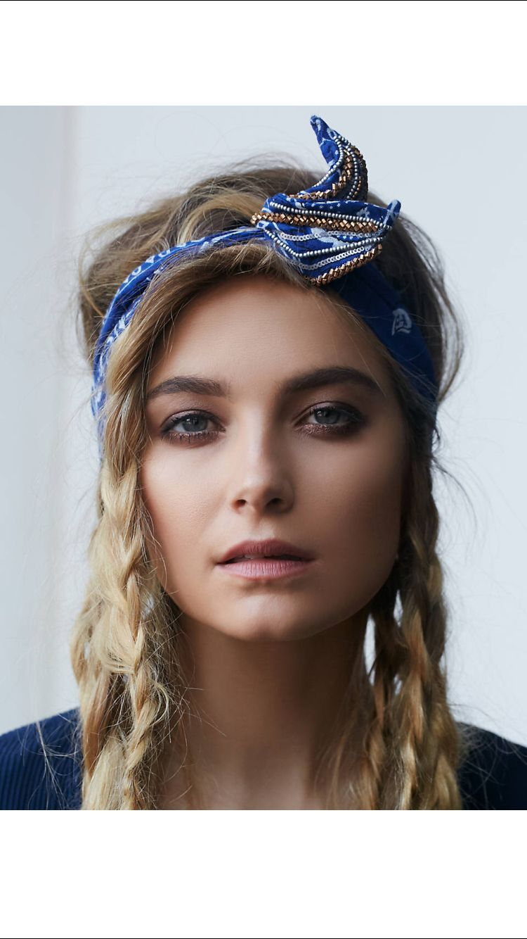 Braid hair with bandana hair pinterest plait hair and hair dos