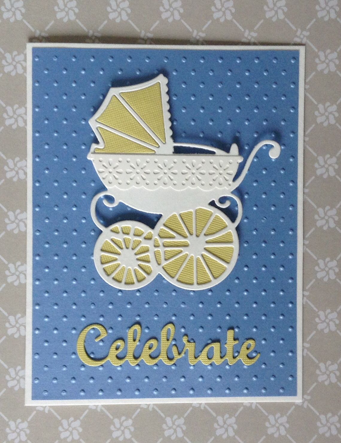Marianne Baby Carriage Die Cardmaking Baby Cards Cards