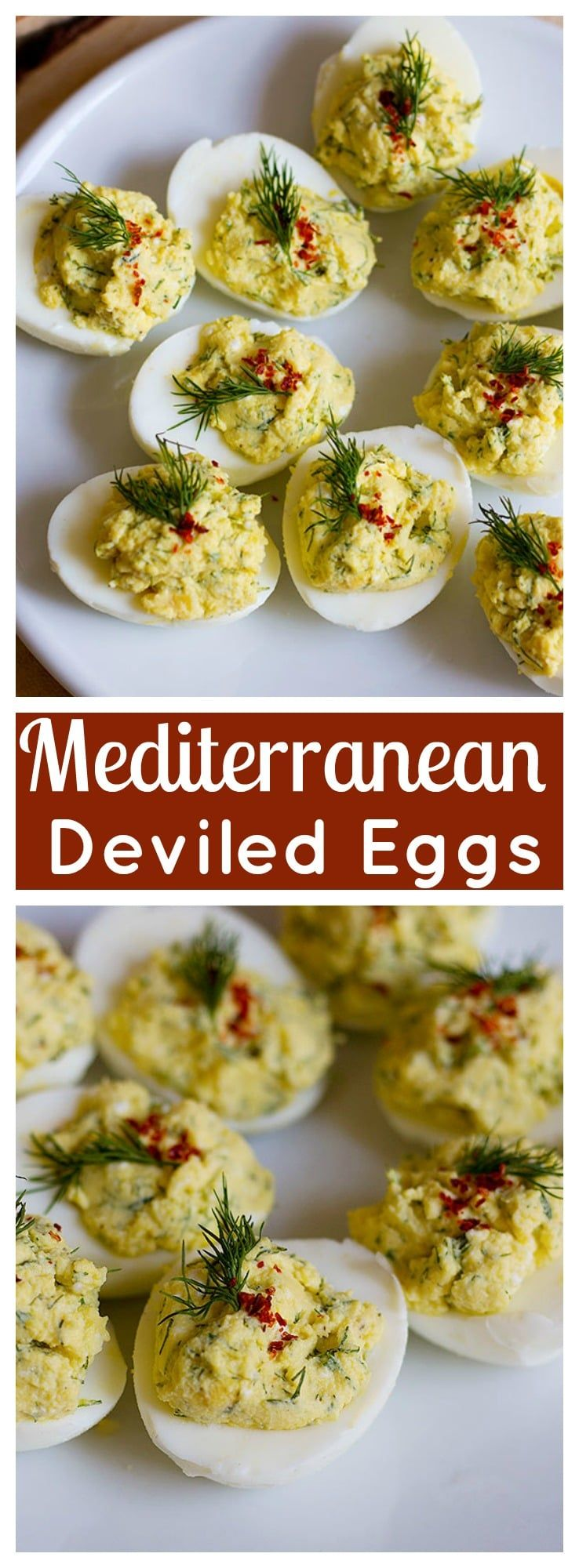 Mediterranean Deviled Eggs • Unicorns in the kitchen