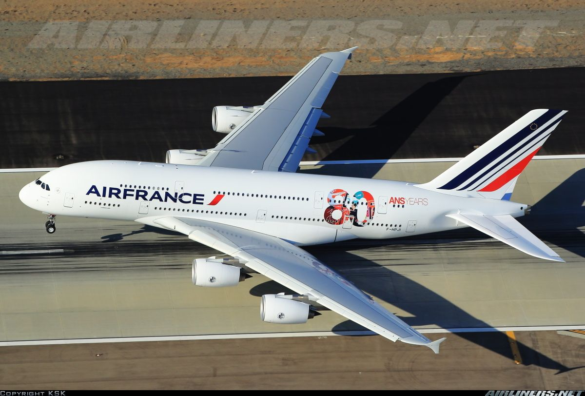 Airbus a380 861 lax air france a380 with 80th anniversary for A380 air france interieur
