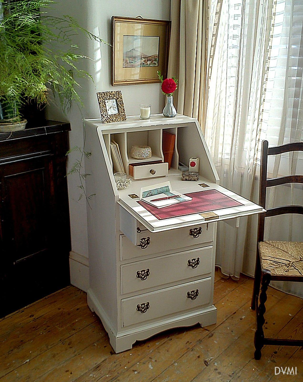 Pretty Little Painted Vintage Shabby Chic Bureau Farrow & Ball ...