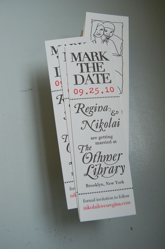 save the date bookmarks