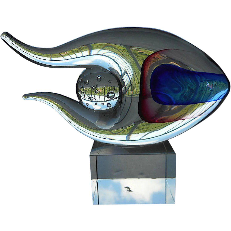 Vintage Murano Artglass Fish Bobbydaleearnhardt.com