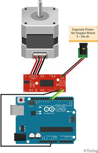 Stepper Motor Easy Driver Stepper Motor Arduino Steppers