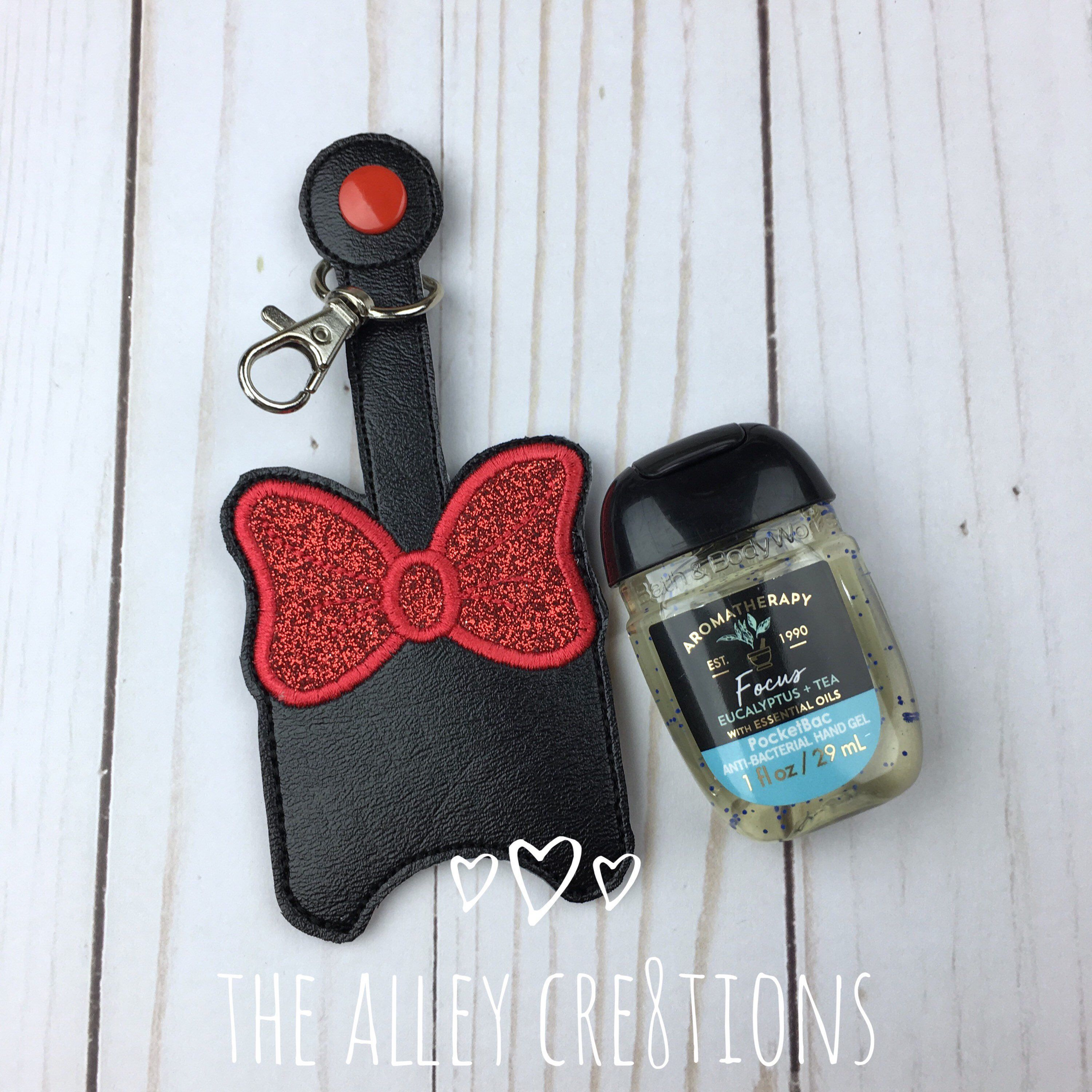 Minnie Mouse Inspired Antibacterial Hand Sanitizer Holder Pocket