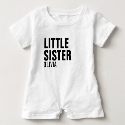 Little sister custom baby romper baby gifts child new born gift little sister custom baby romper baby gifts child new born gift idea diy cyo special negle Gallery