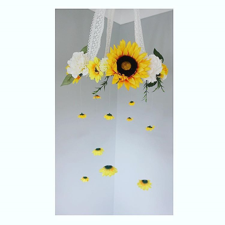 Rustic Sunflower Mobile Coming Soon To Mademae Babymobile Rusticmobile Rusticnursery Girls Sunflower Nursery Baby Girl Nursey Baby Girl Nursery Room