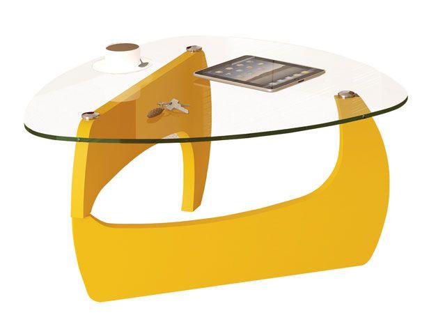 Mesa de Centro, Amarela, Cube