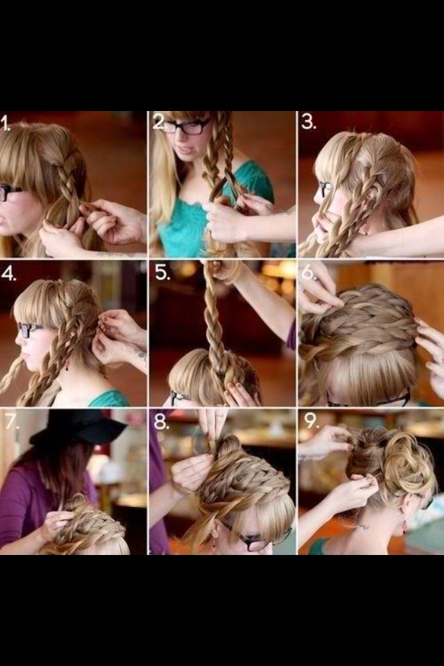 Sophisticated braid updo