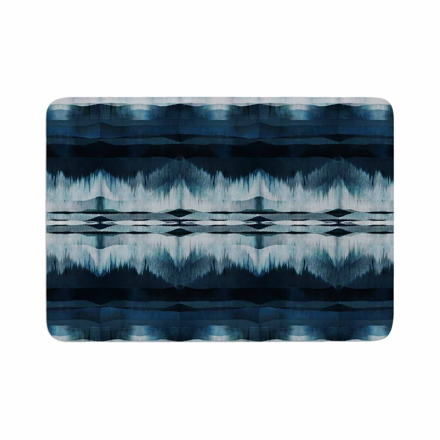 Ebi Emporium Native Song Indigo Blue Memory Foam Bath Mat Kess