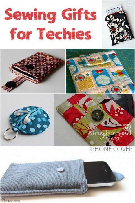 Techniksachen (Handy Hüllen, iPhone Tasche,...)  zum nähen - Handmade gifts for techies