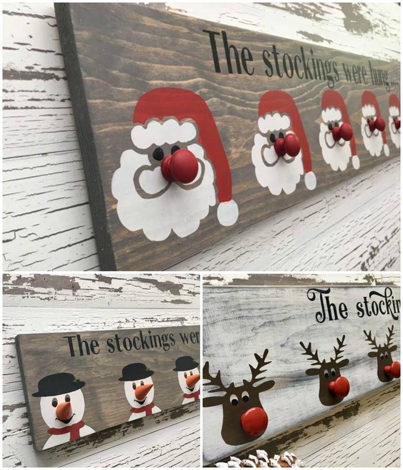 Christmas stocking hangers Christmas crafts, Christmas