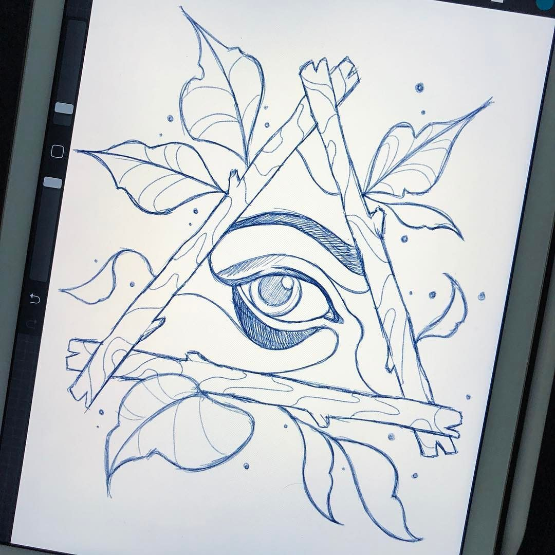 Eye see what you mean. Neo traditional eye in a triangle