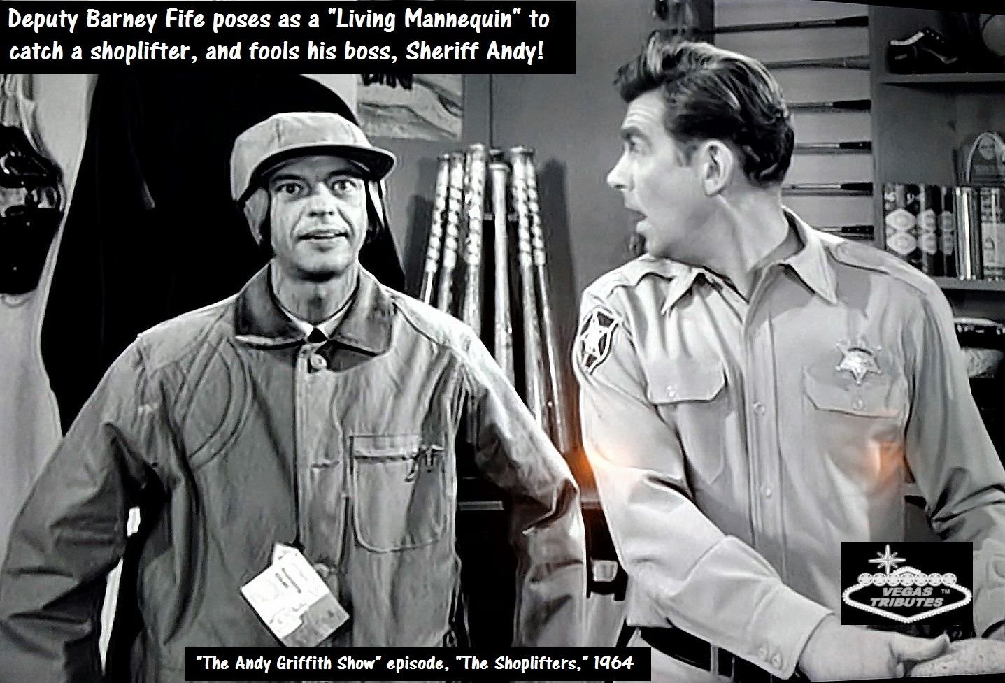 """Here' a great example from classic, TV, """"The Andy Griffith"""