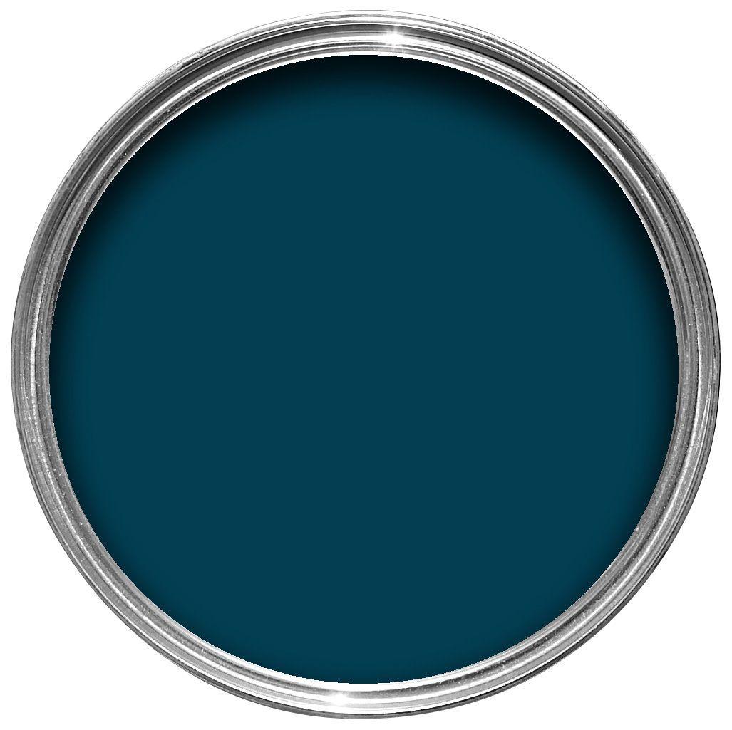 Colours Non Drip Interior Exterior Marine Blue Gloss Paint