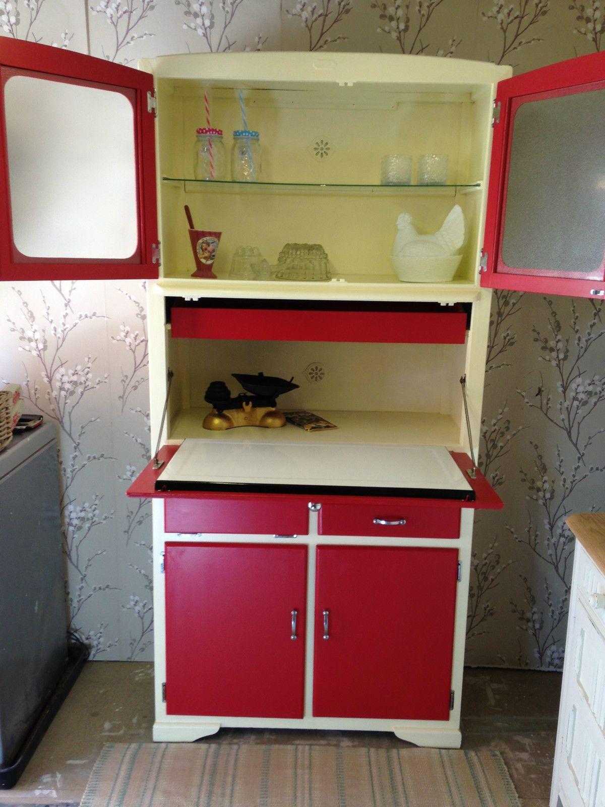 Best Kitchen Gallery: Vintage Retro Kitche Te Larder Mid Century 50's 60's Kitchen of Vintage Kitchen Cupboards on rachelxblog.com