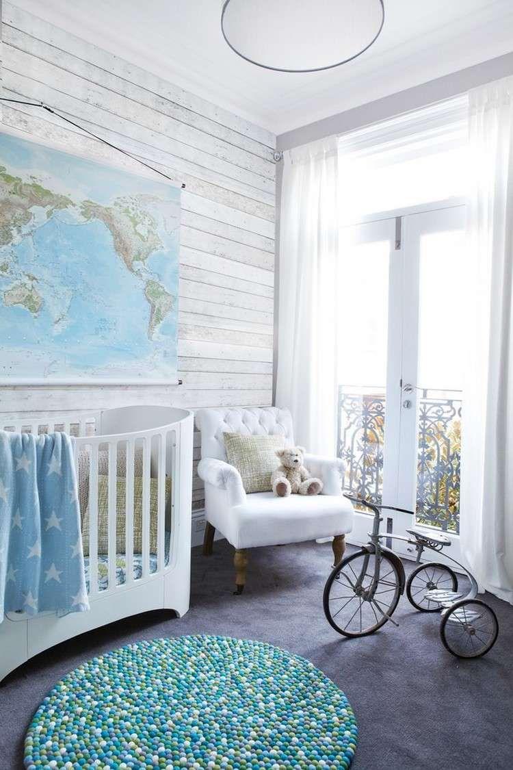 Tapete kinderzimmer junge baby grün  Babyzimmer für Junge - graue Tapeten mit Holzoptik | Schlafzimmer ...