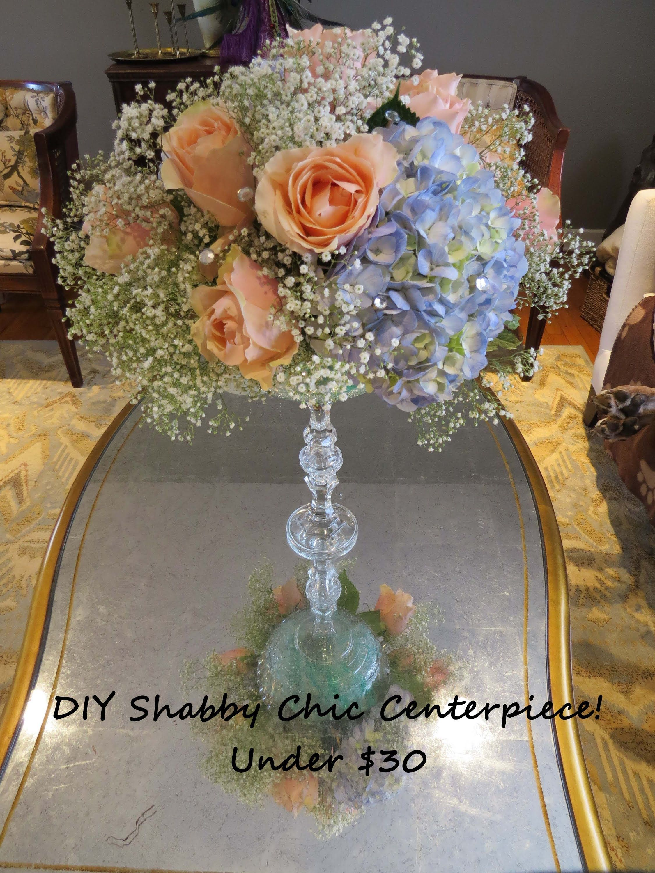 Learn how to make this DIY Shabby Chic Wedding Floral Centerpiece ...