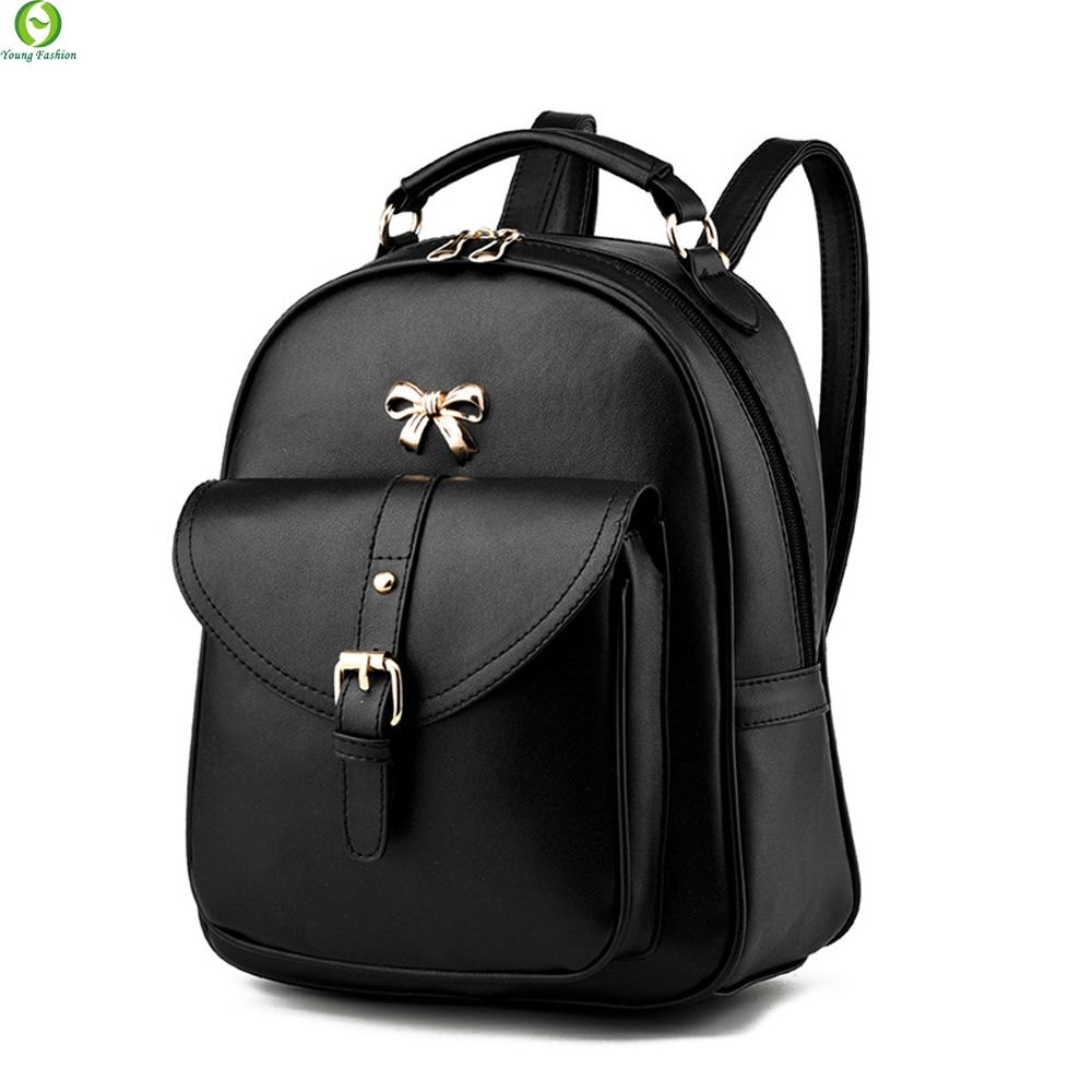 e84ad3a8b Find More Backpacks Information about New Designer Women Backpack For Teens  Girls Preppy Style School Bag PU Leather Backpack Ladies High Quality Black  ...
