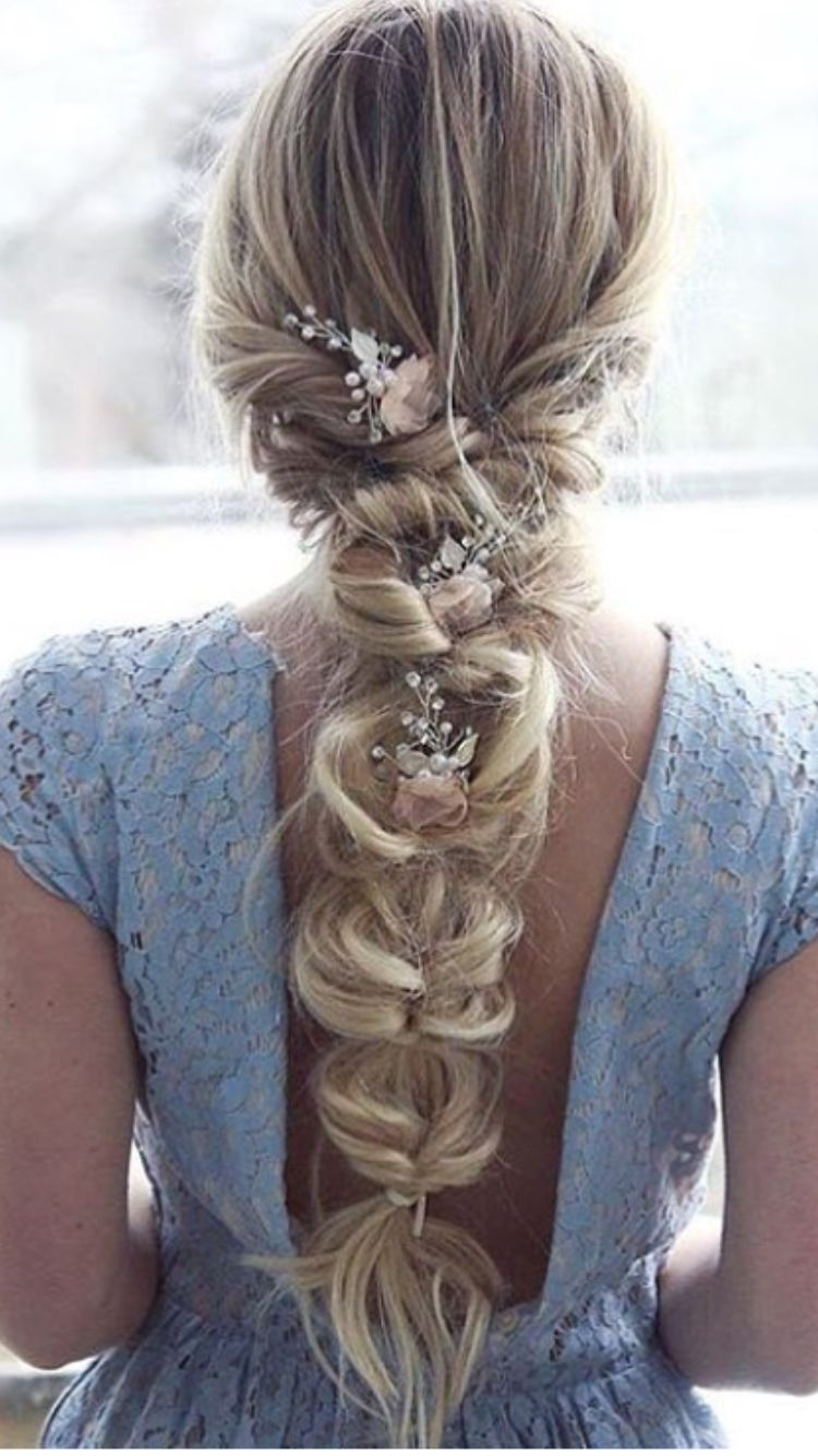Lovely For Bride Or Bridesmaid Braided Hairstyles For Wedding Wedding Braids Bridal Hair