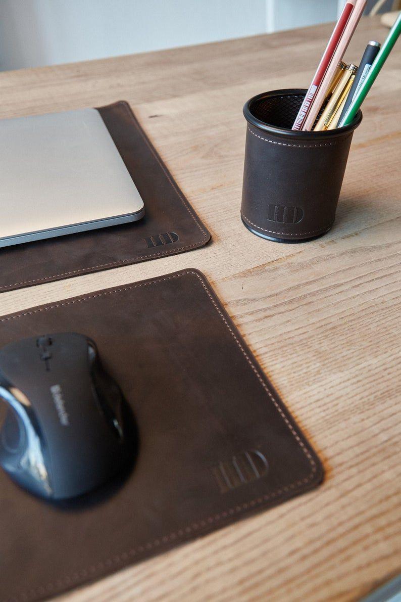 Pen Tray Pen Holder For Desk Work Desk Decor Office Desk Accessories Leather Desk Pad Office Desk Accessories For Men College Student Gift Boyfriend Gifts New Job Gift Deployment Gifts