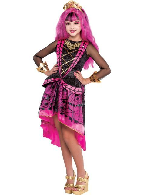 girls monster high draculaura costume supreme with headband halloween city