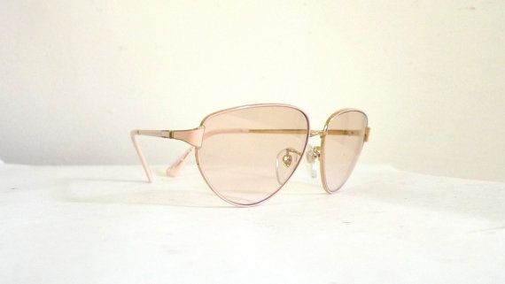 Flesh Pink Tura Aviators / Mod Eyeglasses Frames / by BibbysRocket