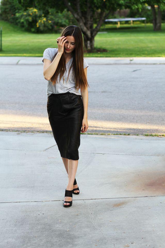 879e55ff5 como transformar pantalones de cuero en falda | diy | Pantalones de ...