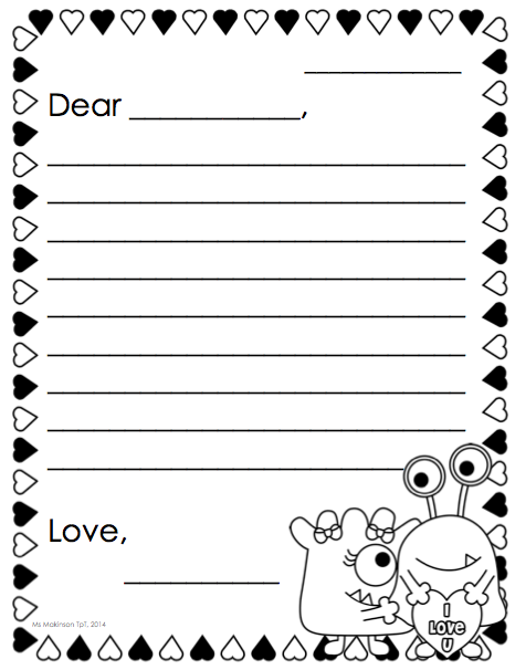 Awesome February Printable Packet   Kindergarten Literacy And Math. Friendly Letter  Template For The Writing Center!