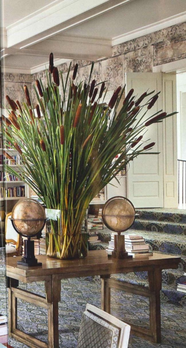 Cattail / Bulrush Fall floral arrangement - Stunning autumn home ...