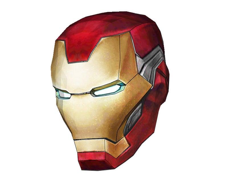 Iron Man Mark 85 Helmet Foam Pepakura File Template Avengers Etsy Iron Man Punisher Cosplay Cosplay