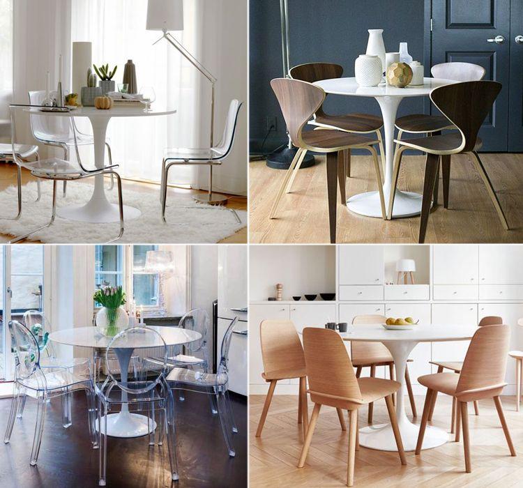 Come abbinare le sedie giuste al tavolo Tulip | Tavolo tulip