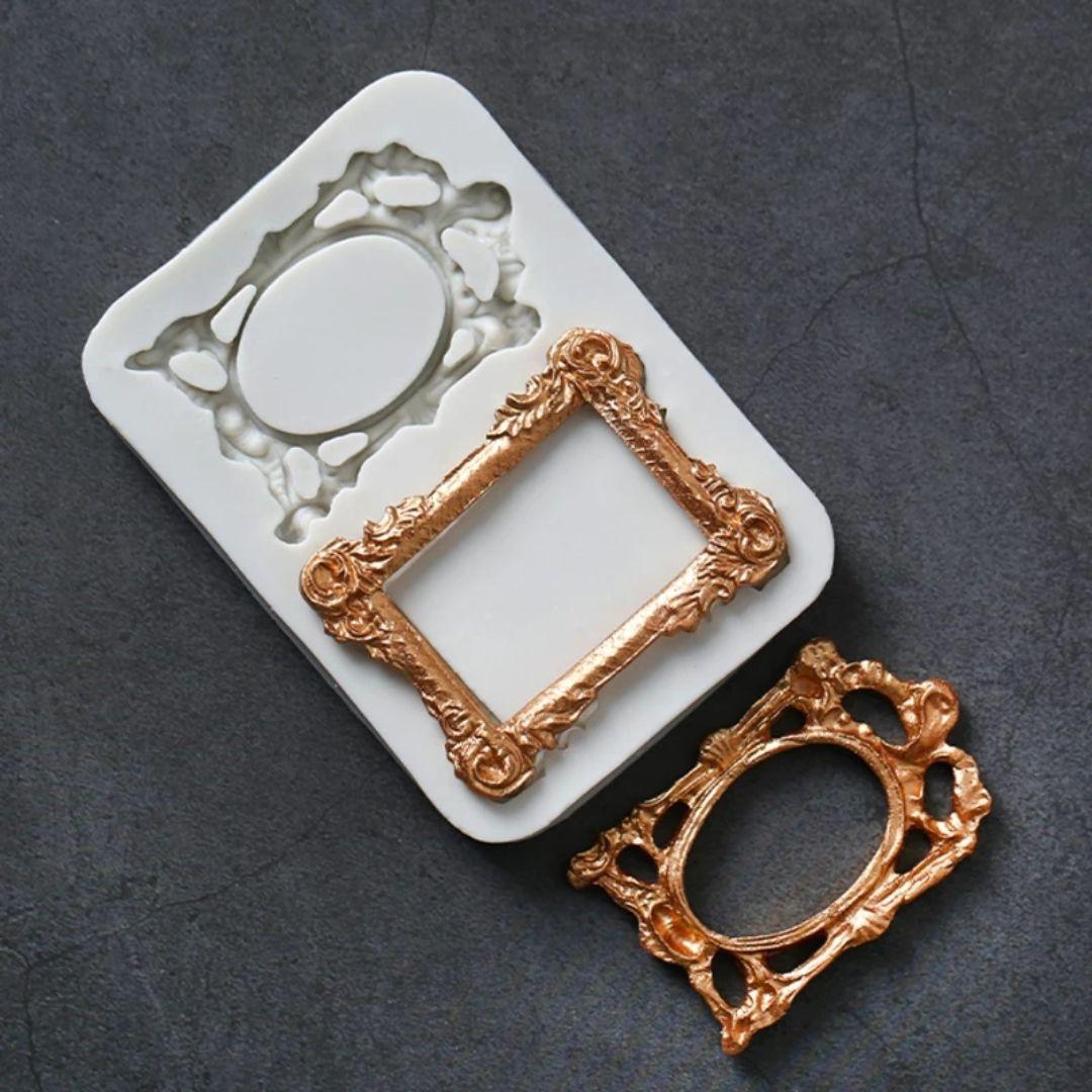 Vintage Frames Silicone Mold In 2020 Vintage Frames Molding Cake Decorating Supplies