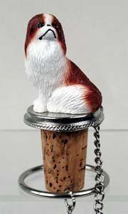 Japanese Chin Bottle Stopper (Brown & White) by Conversation Concepts. $11.95. Pewter Base with chain and Ring to keep it with the bottle.. Made of Poly Resin and Hand Painted.. Approximately 1.5 - 2 inches.. Wine Save Cork. Satisfaction Guaranteed. Make every event a great event with this life like critter on your cool Japanese Chin Bottle Stopper (Brown & White). Who could resist the charms of this cute little guy designed to fit perfectly atop any standard wine...