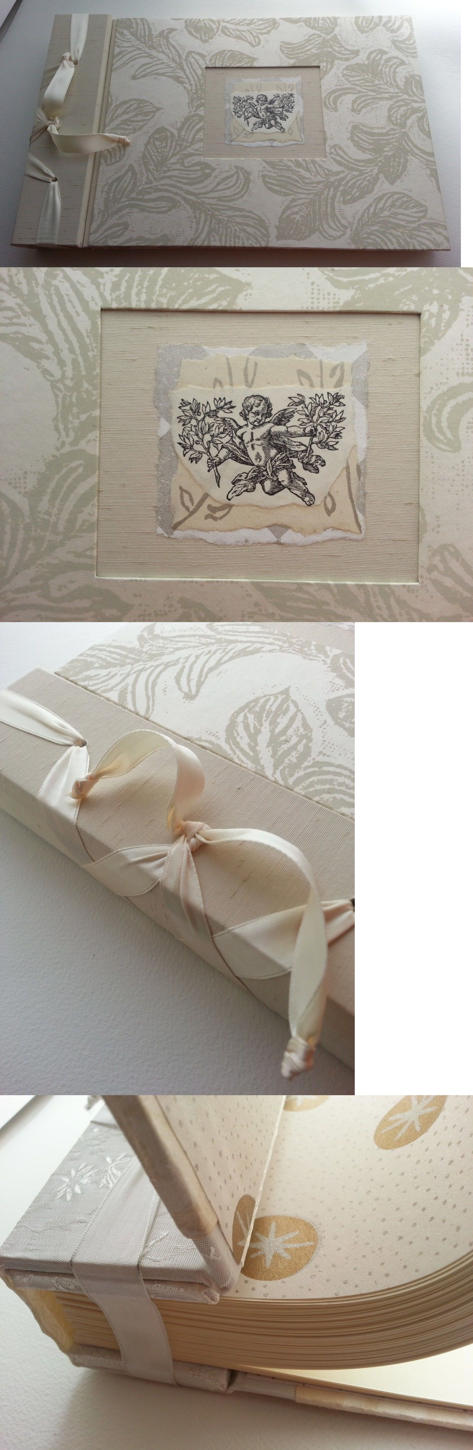 Guest Books and Pens 20940  Two Women Boxing Guest Wedding  Album  Handmade  Ribbon Bound Spine W Angel Inset -  BUY IT NOW ONLY   73 on  eBay  guest   books ... a333c2d3a3
