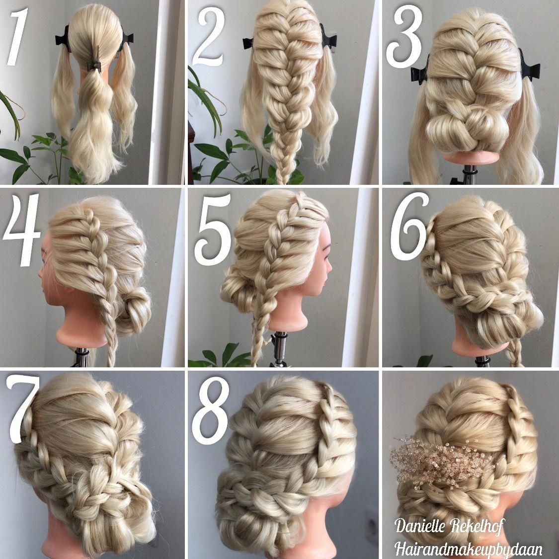 Step By Step Braided Updo Easybraidsformediumhair Prom Hairstyles Updos Hair Updos Tutorials Braids Step By Step