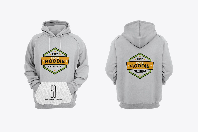 Download Free Men's Hoodie Mockup