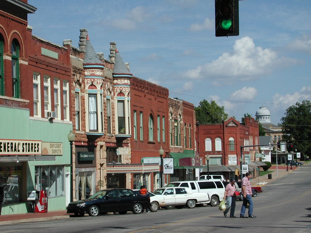 Guthrie, OK : Downtown Guthrie. actually got Dad to stop here one day and really enjoyed it.