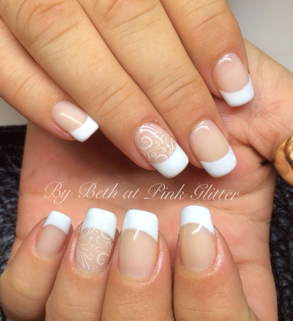 Here Comes The Bride With Some Awesome Nails: Wedding Day Nails, Wedding Nails, Hair And