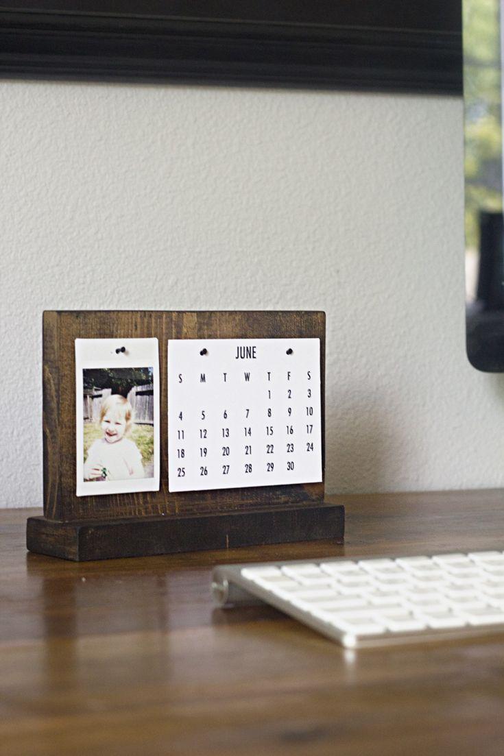 How To Make A Modern Desk Calendar Diy And Crafts Desk Calendars