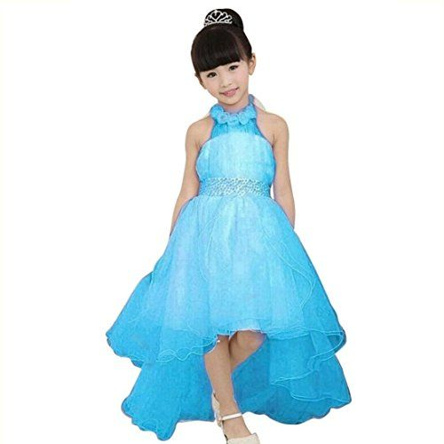 Fheaven S Party Dress Evening Wear Long Tail Elegant Flower Kids Dresses Wedding Princess Skirt Blue Learn More By Visiting The Image