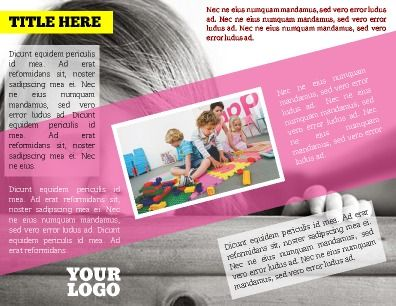 Inside HalfFold Kids Program Brochure Modern Design Customize