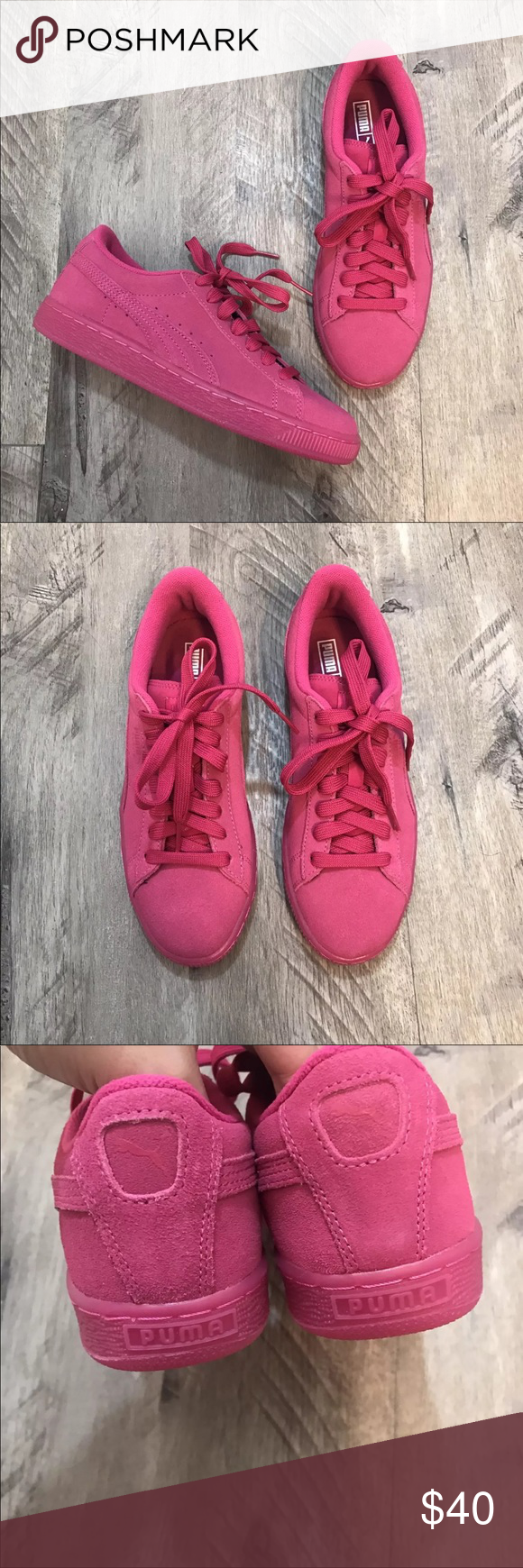 size 40 757df 26e68 New Pink Puma Sneaker Shoes Brand new! Puma pink suede ...