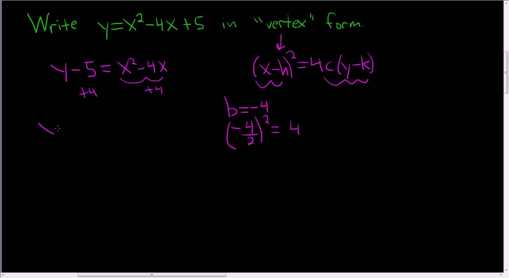 Writing A Parabola In Vertex Form