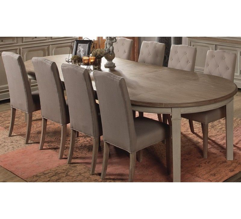 Table ronde extensible charme chaises tables salon pinterest table ronde extensible - Table extensible ronde ...
