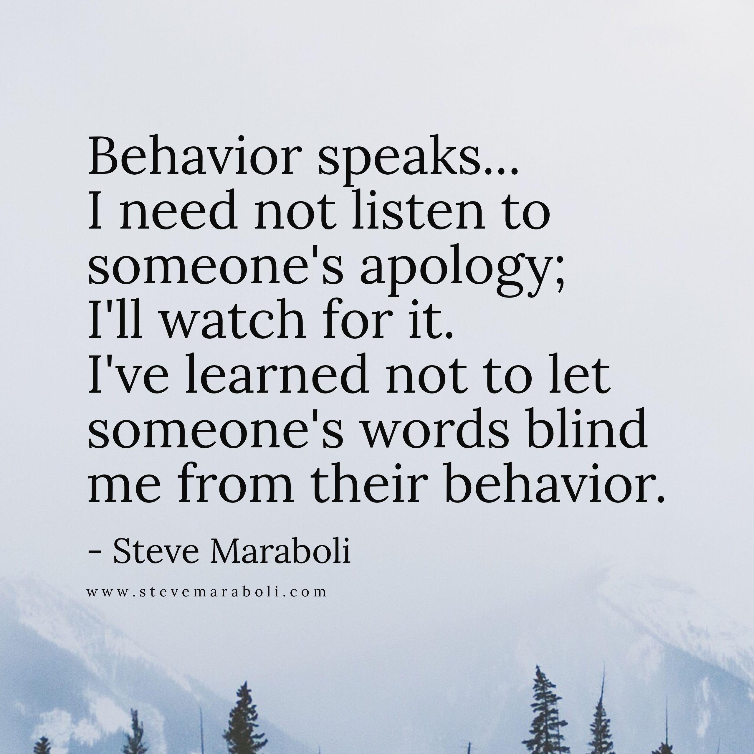 Wisdom Quotes Behavior Speaks All Maraboli Quotes Uncategorized