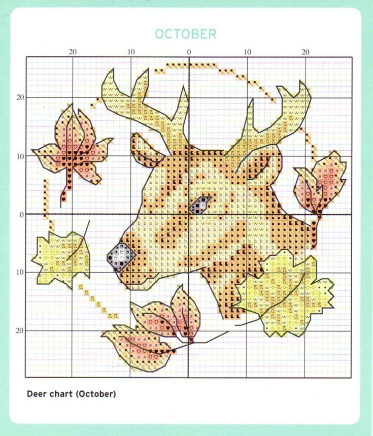 October Cross Stitch Chart
