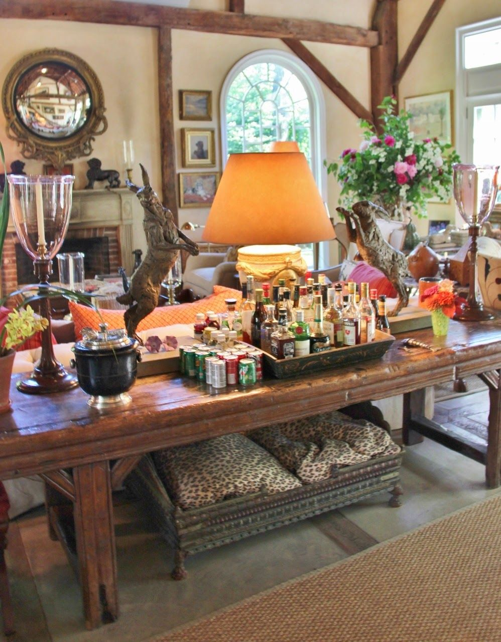 Bunny williams bar in the barn food pinterest idee - Cottage anglais connecticut blansfield ...