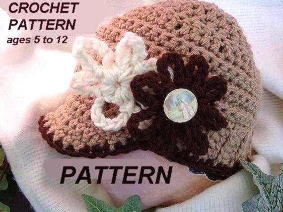 How To Crochet A Newsboy Hat Easy Crochet Pattern Pdf 86 Classic
